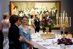 Stéphanie na Coroação dos Reis da Holanda.