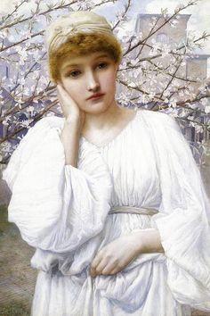 "Henry Ryland ""La Primavera"""