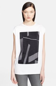 Helmut Lang 'Pact' Burnout Appliqué Jersey Tee available at #Nordstrom