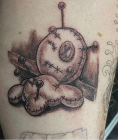Voodoo doll tattoos are the most popular voodoo tattoos, but there are many varieties. Check out this gallery of all kinds of voodoo tattoos! Voodoo Doll Tattoo, Voodoo Dolls, Dream Tattoos, New Tattoos, Tatoos, Symbolic Tattoos, Unique Tattoos, Voodoo Hoodoo, Magic Symbols