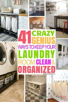 The BEST ideas for organizing your laundry room! Make the laundry room a place you actually WANT TO BE in with these simple ideas and hacks. Get it clean and orderly with these tips! organization | laundry room | organization tips | decluttering | diy | home | laundry room hacks | organization hacks