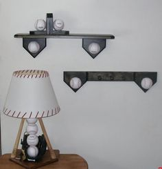 Baseball bedroom collection includes lamp by Midwestclassiccrafts