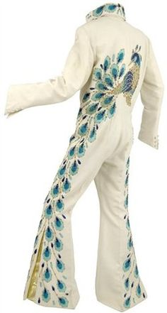 Elvis Presley's peacock jumpsuit, made for him in the early 1970's by Los Angeles designer Bill Belew.