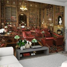 1Wall - Library Giant Wallpaper Mural