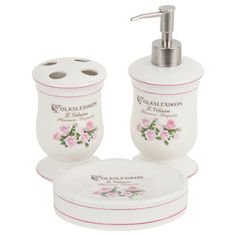 Find the right bathroom set to complete your look will add to your daily bathroom pleasure, choose from a wide selection. Bathroom Sets, Soap Dispenser, Porcelain, Romantic, Roses, Magic, Collections, Style, Soap Dispenser Pump