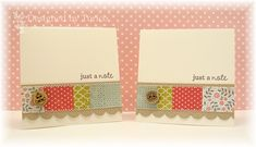 Just a note (visit site/post to see all 4 cards). STAMPARADISE: Mini Note Cards