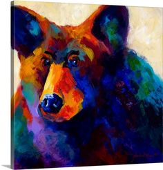 Great Big Canvas Beary Nice by Marion Rose Painting Print on Wrapped Canvas Size: H x W x D Artist Canvas, Canvas Art, Canvas Prints, Big Canvas, Canvas Size, Painting Canvas, Painting Frames, Painting Prints, Art Prints