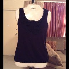 "Ann Taylor LOFT Top Ann Taylor LOFT Top is 100% Cotton. The Color is Black. Size Small. Laying flat ""16. Length ""24. This item is in Good condition, Authentic and from a Smoke And Pet free home. All Offers through the offer button ONLY. I Will not negotiate Price in the comment section. Thank You 😀 LOFT Tops"