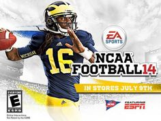 NCAA Football 14 featuring Denard Robinson is out today.