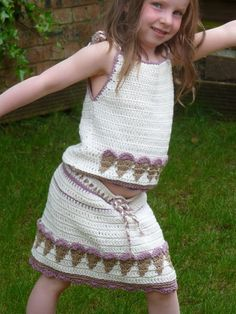 Ravelry: Gelato Skirt pattern by Mary Thomson Unique Crochet, Cute Crochet, Crochet For Kids, Beautiful Crochet, Crochet Baby, Crochet Skirt Pattern, Crochet Skirts, Skirt Patterns Sewing, Crochet Clothes