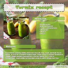 Egy nagyon finom zöldturmix receptje, amit te is könnyedén elkészíthesz #zöldturmix #recept