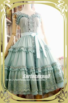 Chiffon Hyacinth JSK - Summer 2012 by Surface Spell (Taobao)