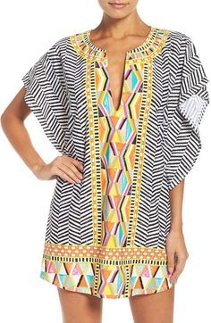 Free shipping and returns on Trina Turk Brasilia Cover-Up Tunic at Nordstrom.com. Festive, eclectic mixed prints add panache to a fabulously breezy tunic perfect for covering up poolside.