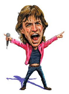 Mick Jagger ( Rolling Stones ) ...artwork by www.ExaggerArt.com