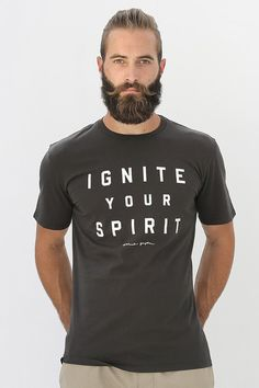 IGNITE YOUR SPIRIT COTTON TEE | Spiritual Gangster Yoga Clothing for a new generation of yogis