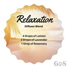 Relaxation Diffuser Blend For Essential Oils