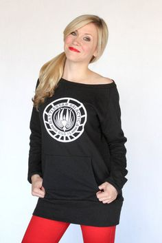 Owning a sweatshirt goes against everything my closet stands for. But its Battlestar!!! Battlestar Galactica BSG Seal Sweatshirt