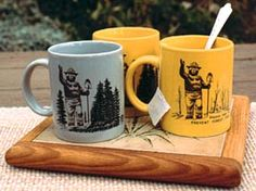 Smokey the Bear Magic Mug - add coffee or tea and watch the trees disappear! LOVE this!