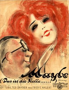 """Cover Sheet Music by Willy Herzig,  1924,""""Maybe"""". (G)"""