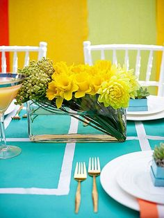 ideias para uma mesa de jantar