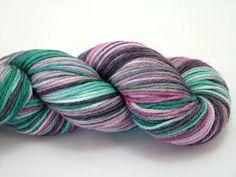 Hand dyed yarn  Superwash Merino Worsted Weight by ShornFibers, $19.00