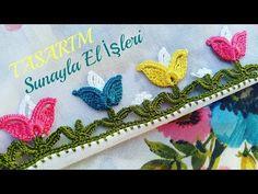 Crochet Flower Tutorial, Crochet Lace Edging, Crochet Flowers, Baby Knitting Patterns, Saree Tassels Designs, Crochet Videos, Knitting Socks, Hand Embroidery, Crochet Earrings