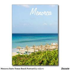 Shop Menorca Santo Tomas Beach Postcard created by stdjura. Menorca, Family Holiday, Postcard Size, Motor, Falling In Love, Jewel, Island, Seasons, Vacation