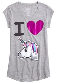 Unicorn Graphic Long Tee (original price, $12.00) available at #Justice
