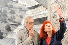Collaborative artists Christo and Jeanne Claude (Photo source unknown)