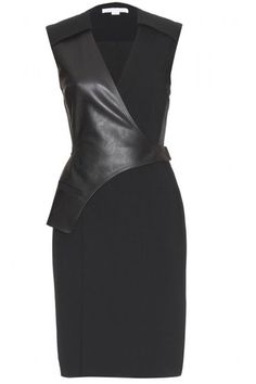 LBD with leather detail