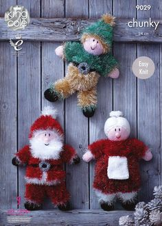 Tinsel Christmas Toys in King Cole Chunky (9029)  5ce45a6689cc