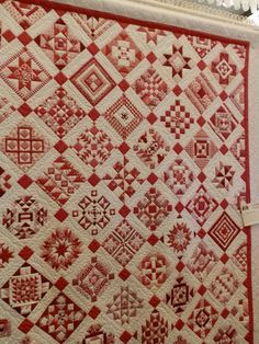 "This quilt is called ""Nearly Insane"" - I wonder why (?!)  Original design by Salinda Rupp in the 1870's"