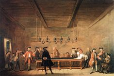 1721-1725 A Game of Billiards - Jean-Baptiste-Simeon Chardin