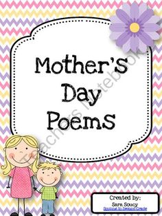 Mothers Day Poems from Smiling In Second Grade on TeachersNotebook.com (19 pages)