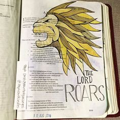 """I love the image of Jesus as a lion, especially #Aslan from #Narnia. So when I read that Amos says the Lord Roars it reminded me of why this image is so special to me. It is ferocity and superiority and as Mr Beaver says, he is not Safe, but he is good! """"He's the King I tell you!"""". #biblejournalingcommunity #koiwatercolors #micronpen #artwork #watercolorpainting #bibleart #bibleartjournaling #bibledoodles #lineart #biblejournaling #illustratedfaith #vscoart Amos Bible, Faith Bible, Scripture Study, Bible Art, Bible Verses, Bible Journal, Journal Art, Illustrated Faith, Old Testament"""