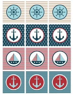 Nautical Baby Shower Printables - My Sister's Suitcase - Packed with Creativity