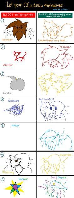 Let your OCs draw themselves! (Meme) by Birdsong231.deviantart.com on @DeviantArt