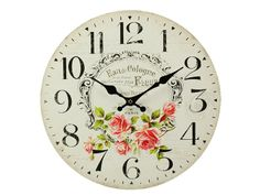 Ceas de perete vintage cu diametrul 34 cm. Acest obiect decorativ, prezent în gama de decoraţiuni interioare, reprezintă alegerea perfectă pentru decorarea oricărui perete. Cologne, Old Houses, Floral, Wall, Clocks, Vintage, Home Decor, Clock, Old Homes