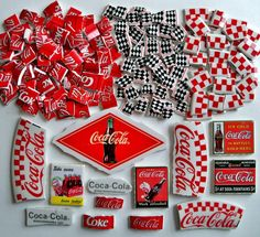 Mosaic Tiles Repurposed Coca Cola Tiles 210 pieces. $19.99, via Etsy.
