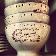 Lovely French bowls at Pure Home Couture...