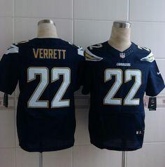 c91388a60 Mens Nike NFL San Diego Chargers  22 Jason Verrett Dark Blue Elite Jerseys  Dark Blue