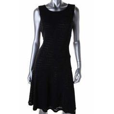 Anne Klein Womens Stretch Sleeveless Casual Dress