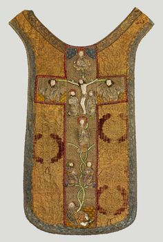 Chasuble with the Tree of Jesse by Anonymous from Italy (fabric) and Poland (embroidery), turn of the 15th and 16th century, Muzeum Narodowe w Warszawie (MNW)