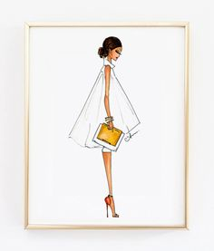 Fashion Illustration Print, Alice + Olivia