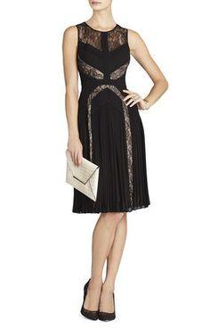 ceb0cc5ebd48 Raya Pleated Lace Cocktail Dress | BCBG #cocktaildressessize0 Black  Cocktail Dress, Dress Black,