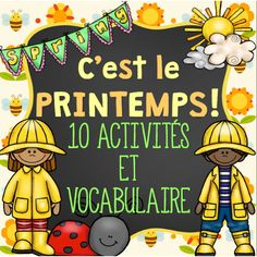 This French Spring package includes 10 activities and 44 vocabulary cards that you can use throughout Spring. If you enjoyed the Winter package, then you might be interested in this Spring themed one. How To Speak French, Learn French, Teaching French Immersion, French Teaching Resources, Teaching Ideas, Student Data Forms, Core French, Kindergarten Games, French Classroom
