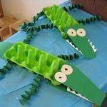 Crocodile Art Project: Egg Carton Crafts for Kids. Rainforest Crafts, Jungle Crafts, Rainforest Theme, Rainforest Preschool, Preschool Jungle, Kids Crafts, Preschool Crafts, Arts And Crafts, Preschool Teachers