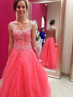 Beading A-Line Prom Dresses,Long Evening Dresses,Long Prom Dresses,Long Prom Gown