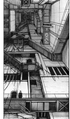 Blame is the most cyberpunk-ish work of art I ve ever had the pleasure of reading Highly recommended if you haven t tried it already Art Sketches, Art Drawings, Japon Illustration, Perspective Drawing, Art Graphique, Psychedelic Art, Manga Art, Cyberpunk, Comic Art