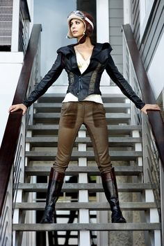 Catherine Bell in Riding Boots. Photoshoot by Felix Kunze - I've never seen this before! O_O